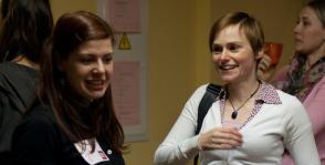 Zane no Rīgas un Stefija no Somijas - RailsGirls aktīvistes