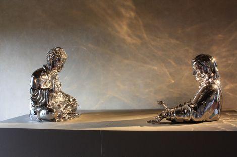 Austrumvējš un rietumvējš, Zanga Huana (Zhang Huan) izstāde Florencē, 2013