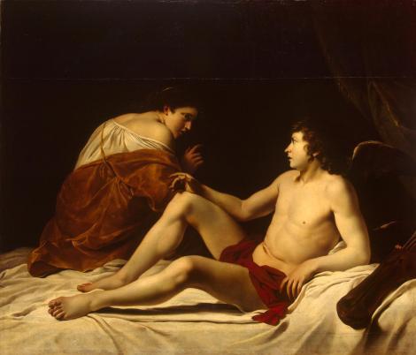 Orazio Gentileschi  (1563–1639)  Cupid and Psyche